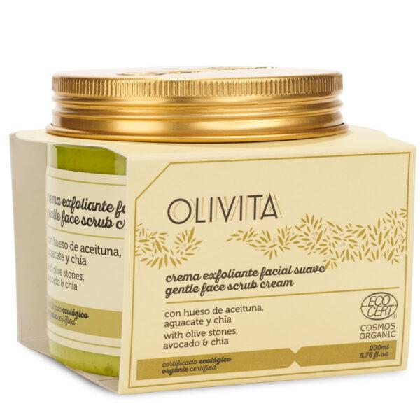 Crema exfoliante facial suave