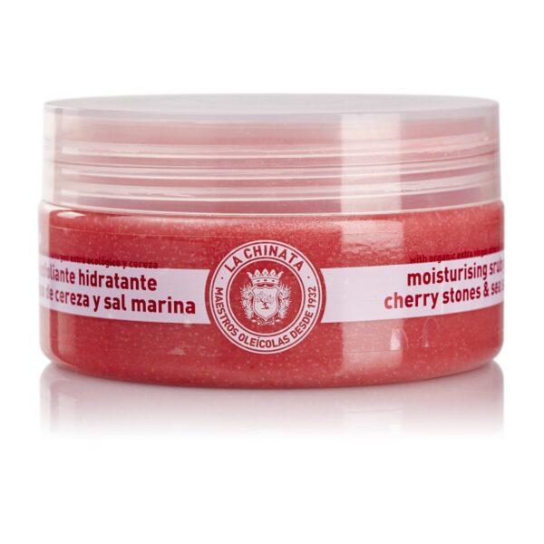 Gel exfoliante hidratante hueso de cereza y sal marina