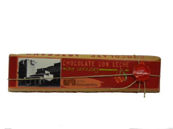 chocolate con leche con cerezas