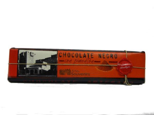 chocolate negro con pimenton