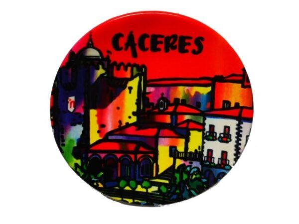 Plato Ceramica Cc Rojo